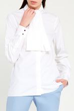 GUCCI | Белая блузка с завязками на воротнике | Clouty