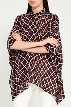 GUCCI | Свободная блузка с контрастным принтом | Clouty