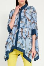 GUCCI | Голубая блузка с принтом | Clouty