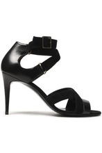 Pierre Hardy | Pierre Hardy Woman Leather And Suede Sandals Black Size 38.5 | Clouty