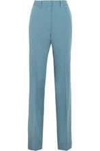 Bottega Veneta | Bottega Veneta Woman Gabardine Straight-leg Pants Sky Blue Size 46 | Clouty