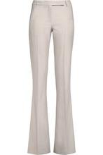Belstaff | Belstaff Woman Derby Wool-blend Twill Bootcut Pants Mushroom Size 44 | Clouty