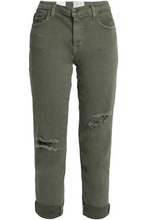Current/Elliott | Current/elliott Woman Distressed Boyfriend Jeans Army Green Size 27 | Clouty