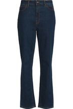 JUST CAVALLI | Just Cavalli Woman High-rise Straight-leg Jeans Dark Denim Size 32 | Clouty