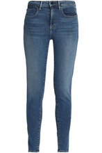 Alexander Wang   Alexander Wang Woman Faded Mid-rise Skinny Jeans Mid Denim Size 30   Clouty