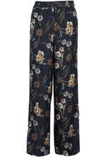 Derek Lam 10 Crosby | Derek Lam 10 Crosby Woman Floral-print Matelasse Silk-blend Wide-leg Pants Black Size 6 | Clouty