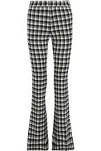 Derek Lam 10 Crosby | Derek Lam 10 Crosby Woman Checked Flannel Flared Pants Gray Size 0 | Clouty