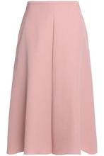 Rochas   Rochas Woman Pleated Wool-gabardine Midi Skirt Blush Size 40   Clouty