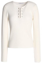 Derek Lam 10 Crosby | Derek Lam 10 Crosby Woman Ribbed-knit Wool Sweater Ivory Size M | Clouty