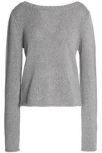 Derek Lam 10 Crosby | Derek Lam 10 Crosby Woman Cable-knit Wool And Cashmere-blend Sweater Gray Size M | Clouty