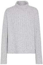 Derek Lam 10 Crosby | Derek Lam 10 Crosby Woman Marled Wool And Cotton-blend Turtleneck Sweater Light Gray Size L | Clouty