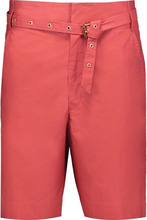 Isabel Marant | Isabel Marant Woman Neddy Belted Cotton Shorts Coral Size 36 | Clouty