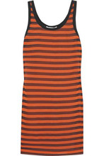GIVENCHY | Givenchy Woman Striped Stretch-silk Mini Dress Orange Size 34 | Clouty
