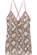 Altuzarra | Altuzarra Woman Hammond Printed Silk Crepe De Chine Camisole Gray Size 44 | Clouty
