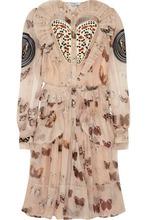 GIVENCHY | Givenchy Woman Butterfly-print Silk-chiffon Dress Blush Size 38 | Clouty