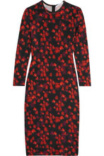 GIVENCHY   Givenchy Woman Dress In Floral-print Stretch-jersey Black Size 36   Clouty