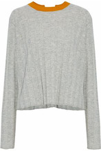 Derek Lam 10 Crosby | Derek Lam 10 Crosby Woman Buckle-detailed Ribbed-knit Wool-blend Sweater Gray Size M | Clouty