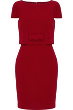 Badgley Mischka | Badgley Mischka Woman Belted Layered Cady Dress Red Size 6 | Clouty