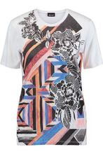 JUST CAVALLI | Just Cavalli Woman Printed Stretch-jersey T-shirt White Size S | Clouty