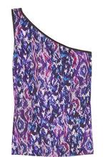 Matthew Williamson | Matthew Williamson Woman One-shoulder Printed Satin Top Purple Size 10 | Clouty