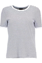 AG Jeans | Ag Jeans Woman Striped Cotton-jersey T-shirt Navy Size L | Clouty