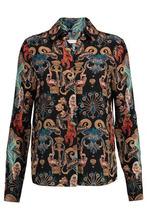 Matthew Williamson | Matthew Williamson Woman Regal Monkey Printed Silk Shirt Multicolor Size 8 | Clouty
