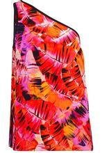 Matthew Williamson | Matthew Williamson Woman Parlatuvier One-shoulder Printed Silk-chiffon Top Red Size 10 | Clouty