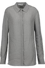 Altuzarra | Altuzarra Woman Chika Gingham Twill Shirt Black Size 42 | Clouty