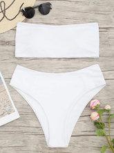 Zaful | Bandeau High Cut Plus Size Bikini | Clouty