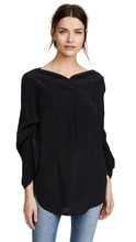 NINA RICCI | Nina Ricci Boat Neck Blouse with Adjustable Sleeves | Clouty