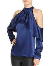 PARKER | Parker Sonelle Cold-Shoulder Silk Top | Clouty