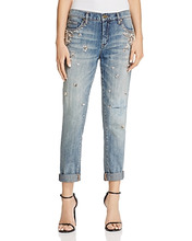 Blank NYC   Blanknyc Crystal & Faux-Pearl Embellished Jeans in Soul Mates - 100% Exclusive   Clouty