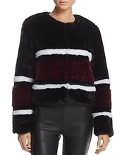 Sunset & Spring | Sunset + Spring Striped Faux Fur Jacket - 100% Exclusive | Clouty