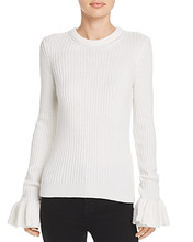 Derek Lam 10 Crosby | Derek Lam 10 Crosby Ruffle-Cuff Sweater | Clouty