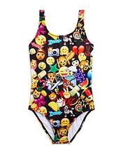 Terez | Terez Girls' Mixed Emoji Swimsuit - Little Kid, Big Kid | Clouty