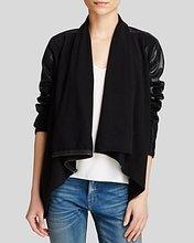 Blank NYC   Blanknyc Jacket - Faux Leather Asymmetric Zip   Clouty