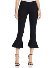 Blank NYC   Blanknyc Ruffle-Hem Cropped Jeans in Night Mania - 100% Exclusive   Clouty