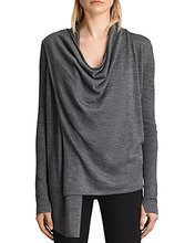 AllSaints | Allsaints Drina Ribbed Merino Wool Cardigan | Clouty