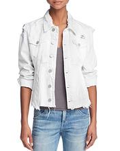 Blank NYC   Blanknyc Frayed Distressed Denim Jacket   Clouty