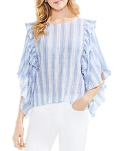 Vince Camuto | Vince Camuto Striped Ruffle Top | Clouty
