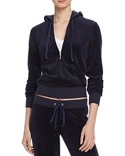 Juicy Couture   Juicy Couture Black Label Robertson Velour Zip Hoodie   Clouty