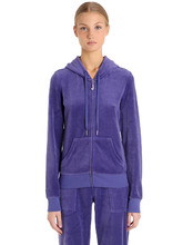 Juicy Couture   Свитшот Из Велюра С Вышивкой   Clouty