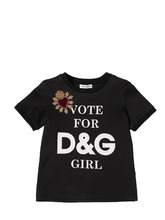 "Dolce & Gabbana | Футболка Из Хлопкового Джерси ""Vote For D&G Girl 