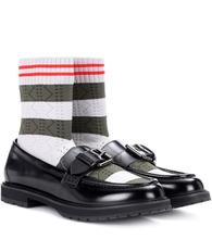 FENDI   Rockoko leather sock loafers   Clouty