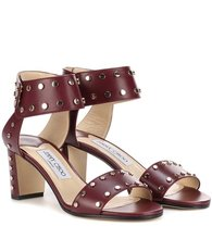 Jimmy Choo | Veto 65 embellished leather sandals | Clouty