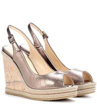 Jimmy Choo | Prova leather wedge sandals | Clouty