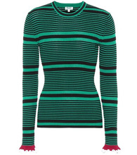 KENZO | Striped cotton-blend sweater | Clouty