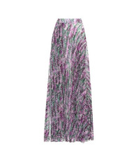 MAX MARA   Floral-printed pleated skirt   Clouty