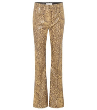 Chloé | Python-printed leather trousers | Clouty