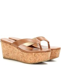 Jimmy Choo | Paque 70 leather platform sandals | Clouty